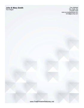 White Pyramids stationery design