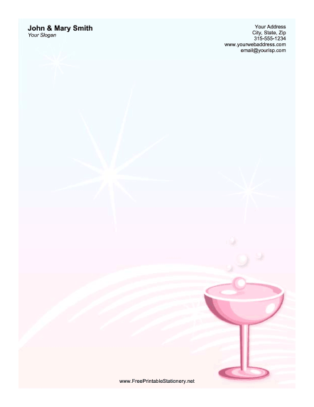 Wine Glass stationery design
