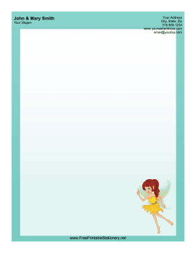 Yellow Fairy stationery design