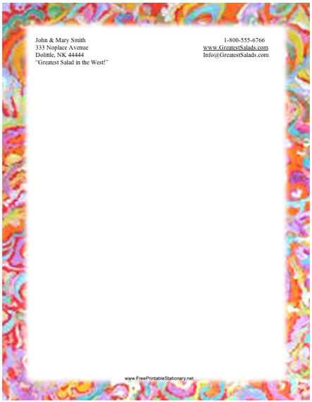Abstract #10 stationery design