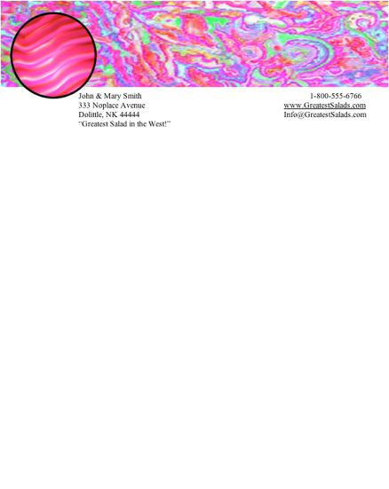 Abstract #12 stationery design