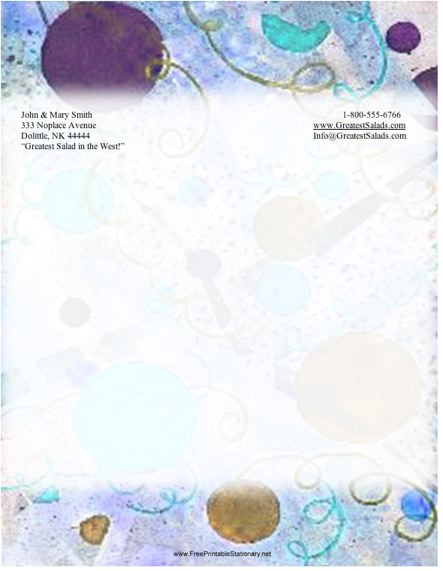 Abstract #7 stationery design
