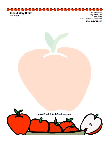 Apple stationery design