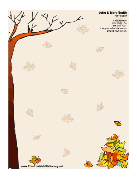 Autumn stationery design