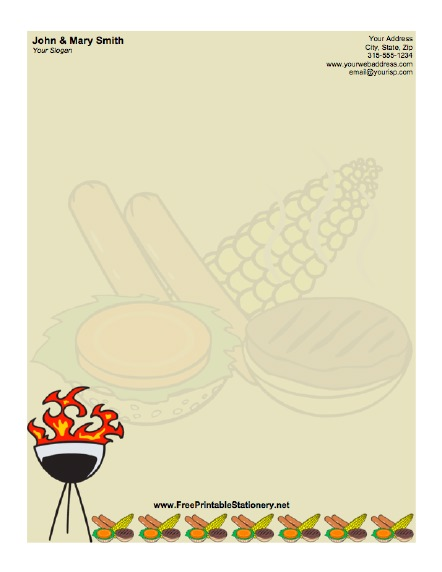 Barbecue stationery design
