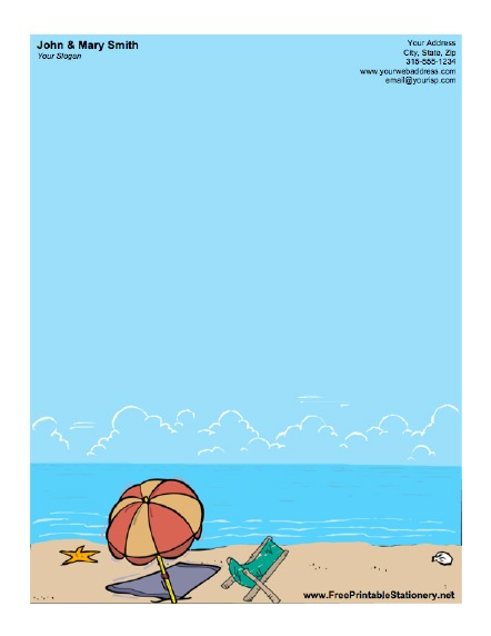 beach umbrella stationery