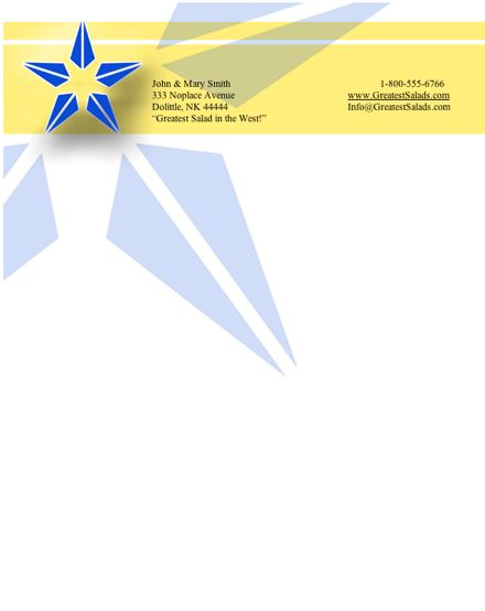 Executive #1 stationery design
