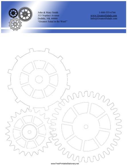 Gears stationery design