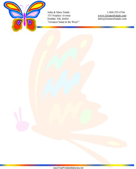Butterfly stationery design