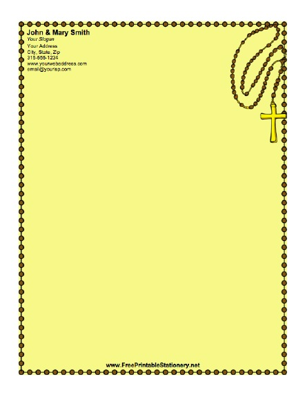 Christian cross stationery for Christian letterhead templates free