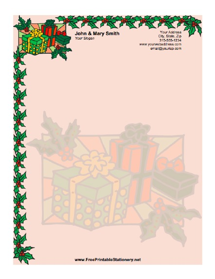 Christmas Packages stationery design