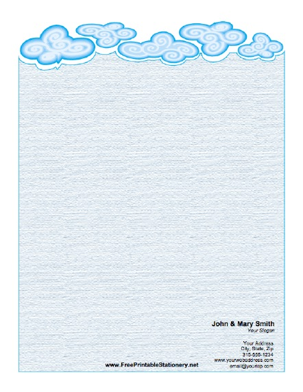 Clouds stationery design
