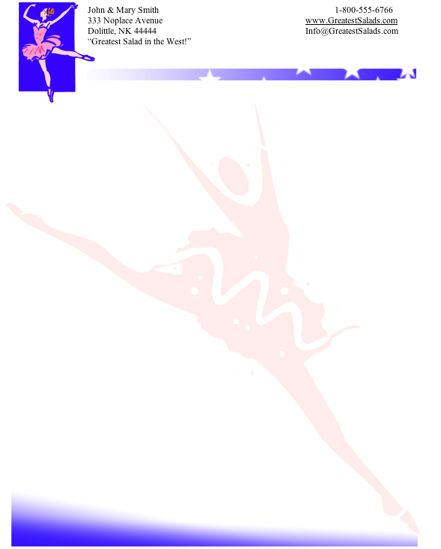 Dancer stationery design