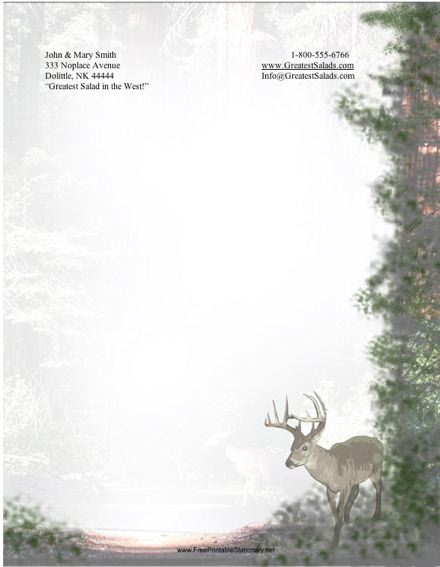 Deer stationery design