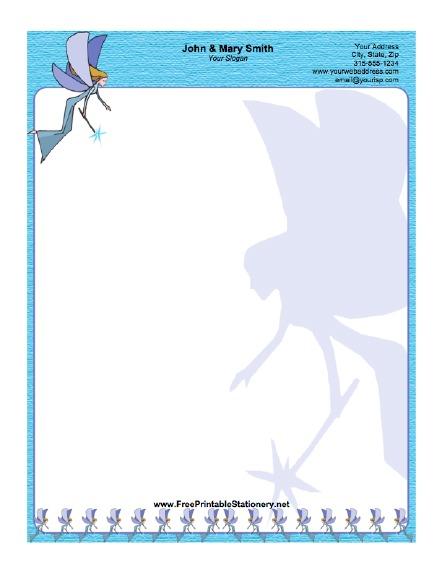 Fairy stationery design