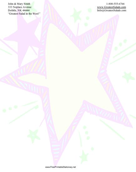 Kid Star stationery design