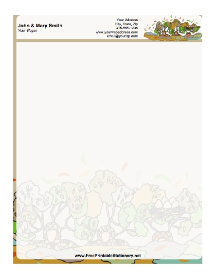 Military Camouflage stationery design