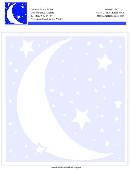 Moon stationery design