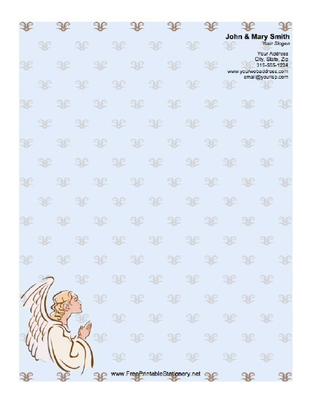 Angel stationery design