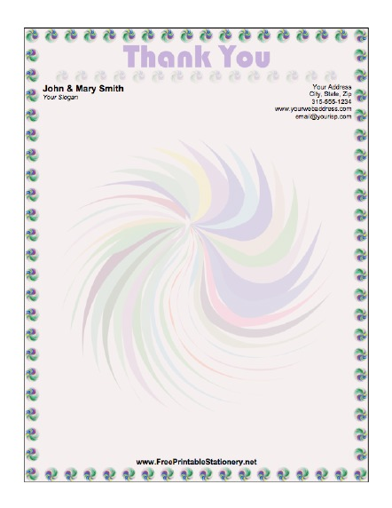 Thank You stationery design