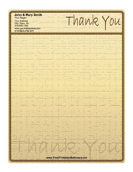 Rustic Thank You stationery design