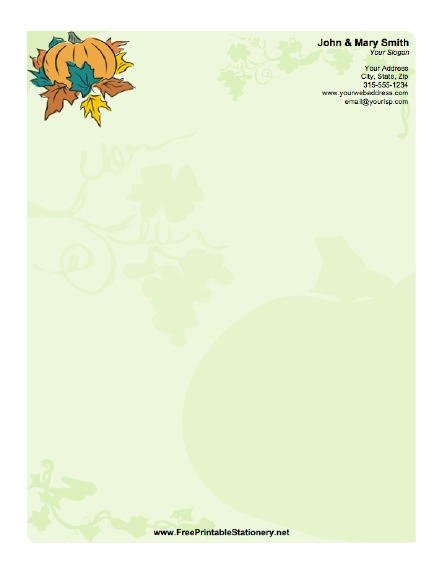 Thanksgiving stationery design