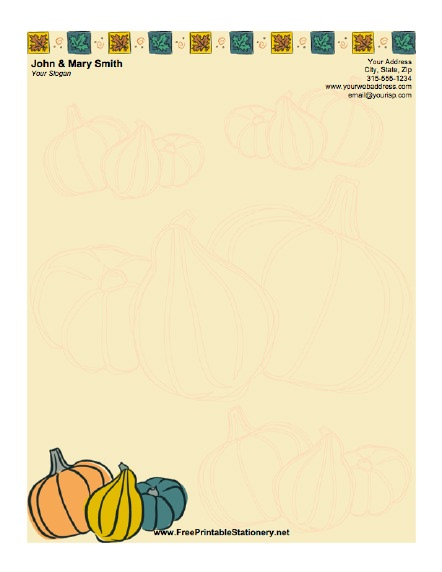 Thanksgiving Produce stationery design
