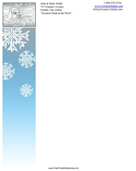 Winter stationery design