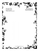 Black And White Nature Stationery stationery design