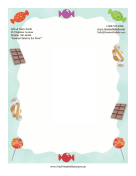 Colorful Candy Stationery stationery design