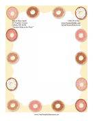 Doughnuts Stationery stationery design