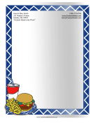 Fast Food Stationery stationery design