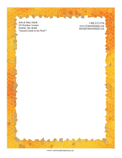 Fire Mosaic Stationery stationery design