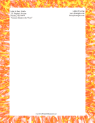 Flame Stationery stationery design